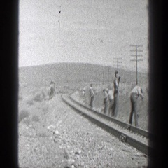 1936: a day working on the railroad. CALIFORNIA Stock Footage