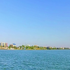 Getting close to Constanta Harbour on a beautiful day Stock Footage