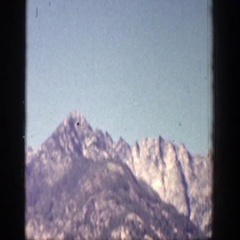 1939: enjoying a fantastic and unique view of some steep mountains CHELAN Stock Footage