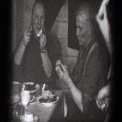 1939: family dinner CHELAN WASHINGTON Stock Footage
