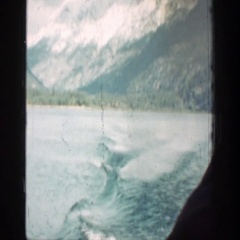 1939: voyage through the waters of the lake in the valley of mountains CHELAN Stock Footage