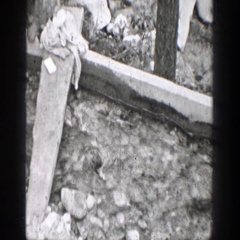 1939: a place in a wooded area outside with rocks and trees CHELAN WASHINGTON Stock Footage