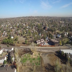 Aerial view of town COLORADO Stock Footage