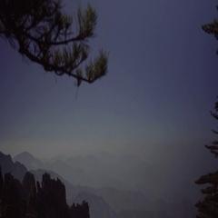 Beautiful mountain range at dusk Stock Footage