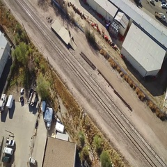 Airplane view of a small community. COLORADO Stock Footage