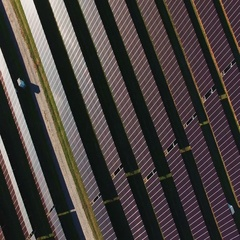 Solar batteries on the rural field Stock Footage