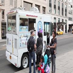 Ice Cream Truck 59th Street Manhattan Stock Footage