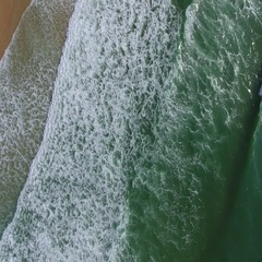 Aerial. Magical sea wave motion. Filmed from the sky. Portugal Stock Footage