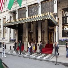 The Plaza Hotel Main Entrance New York Stock Footage