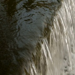 Flowing river water close-up Stock Footage