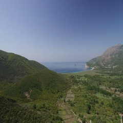 Adriatic Sea coastal landscape. Montenegro Stock Footage