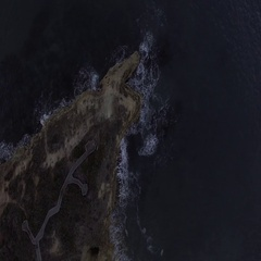Aerial of cliff and the end of Great Ocean Road in Australia Stock Footage