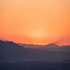 Burbank and Los Angeles Sunrise Time Lapse Stock Footage