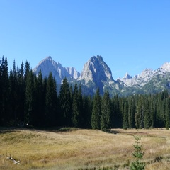 View on the top of the Durmitor National Park Stock Footage