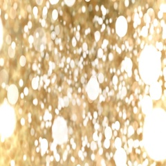 Gold Abstract Bokeh Lights Particles Loop Background. Stock Footage