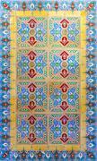 Typical Portuguese old ceramic wall tiles (Azulejos) Stock Photos