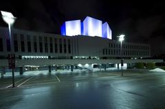 Finlandia Hall at night Stock Photos
