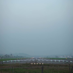 4K Commercial Passenger Airplane Take Off Landing At national Airport-Dan Stock Footage