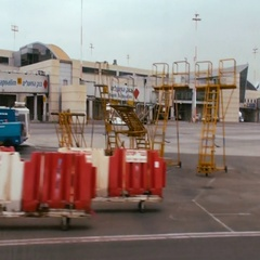 Tracking shot of terminal 3 at Ben Gurion international airport Stock Footage