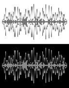 Radio frequency waves or sound analog and digital  forms. abstract audio line Stock Illustration