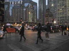 Trump tower street scene Stock Footage