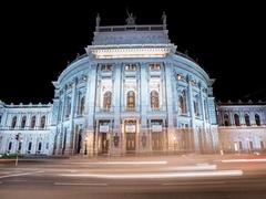 Vienna Burgtheater timelapse in 4k, Vienna theater austria Stock Footage