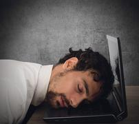 Exhaustion from overwork Stock Photos