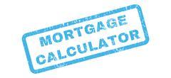 Mortgage Calculator Rubber Stamp Stock Illustration