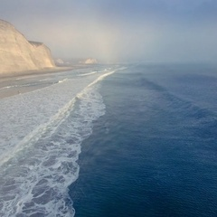 Aerial of point reyes seashore in Marin, San Francisco Stock Footage
