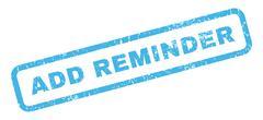 Add Reminder Rubber Stamp Stock Illustration