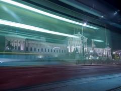 Austrian Parliament Building in Vienna, Timelapse Parlament Vienna at night Stock Footage