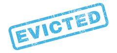 Evicted Rubber Stamp Stock Illustration