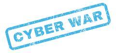 Cyber War Rubber Stamp Stock Illustration