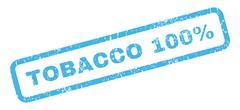 Tobacco 100 Percent Rubber Stamp Stock Illustration
