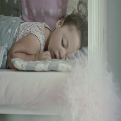 Slow-motion footage of a sleeping child Stock Footage