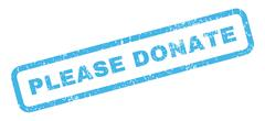 Please Donate Rubber Stamp Stock Illustration