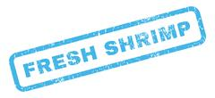 Fresh Shrimp Rubber Stamp Stock Illustration