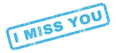 I Miss You Rubber Stamp Stock Illustration