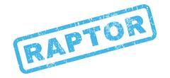 Raptor Rubber Stamp Stock Illustration