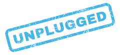 Unplugged Rubber Stamp Stock Illustration