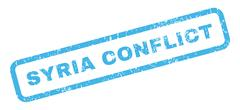 Syria Conflict Rubber Stamp Stock Illustration