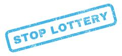 Stop Lottery Rubber Stamp Piirros