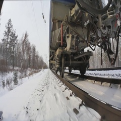 The movement of trains on the railway on the TRANS-Siberian in winter Stock Footage