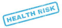 Health Risk Rubber Stamp Stock Illustration