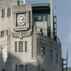 BBC Broadcasting House, Portland Place, London Stock Footage