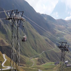 Time Lapse of Cable Car at Mountains Stock Footage