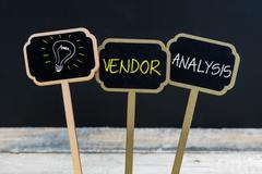 Concept message VENDOR ANALYSIS  Stock Photos