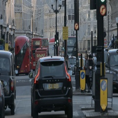 Regent Street seen from BBC Broadcasting house Stock Footage