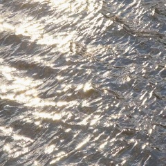Rippling blue water surface, water river background, silver background Stock Footage