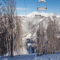 Lift in ski resort Stock Footage